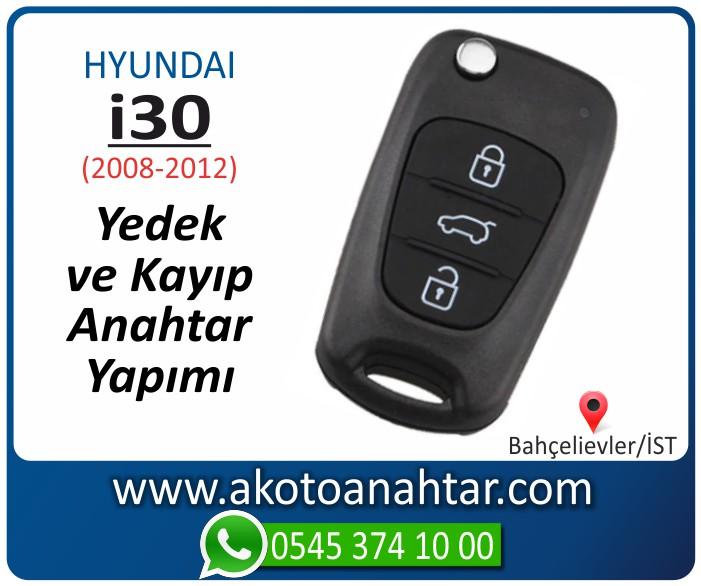hyundai i30 i 30 anahtari anahtar key yedek yaptirma fiyati kopyalama cogaltma kayip 2008 2009 2010 2011 2012 model - Hyundai i30 Anahtarı | Yedek ve Kayıp Anahtar Yapımı  i 30