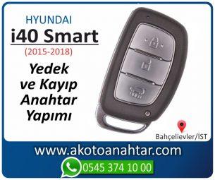 Hyundai i40 Smart Araba Oto Otomobil Car Sustalı Yedek Kayıp Kumanda Kumandalı İmmobilizer Anahtar Anahtarı Çilingir Anahtarcı Acil Kopyalama Kodlama Locksmith Key Bahçelievler İstanbul Kayboldu Dönmüyor Okumuyor Orjinal Kontak Tamir Tamiri Çip
