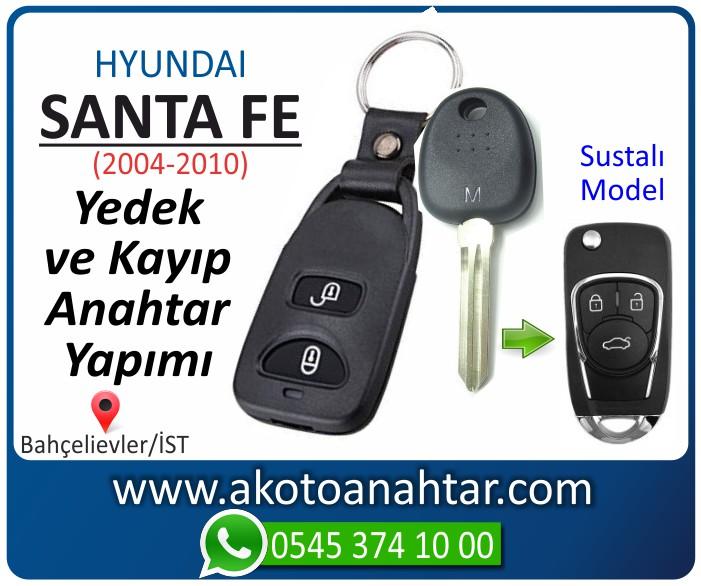 hyundai santa fe anahtari anahtar key yedek yaptirma fiyati kopyalama cogaltma kayip 2004 2005 2006 2007 2008 2009 2010 model - Hyundai Sante Fe Anahtarı | Yedek ve Kayıp Anahtar Yapımı