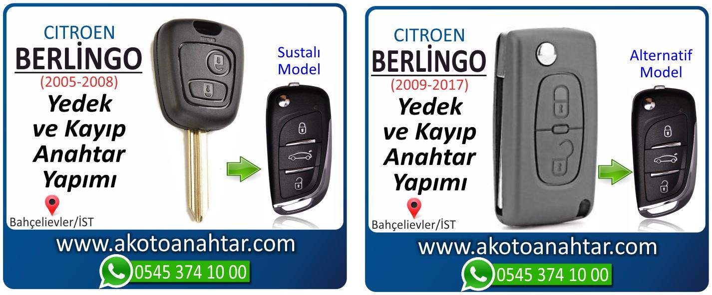 Citroen Berlingo anahtari - Citroen Berlingo Anahtarı | Yedek ve Kayıp Anahtar Yapımı