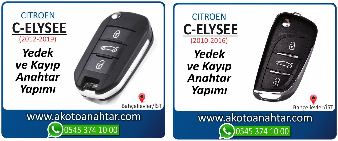 Citroen C elysee anahtari - C-eliysee Anahtarı | Yedek ve Kayıp Anahtar Yapımı