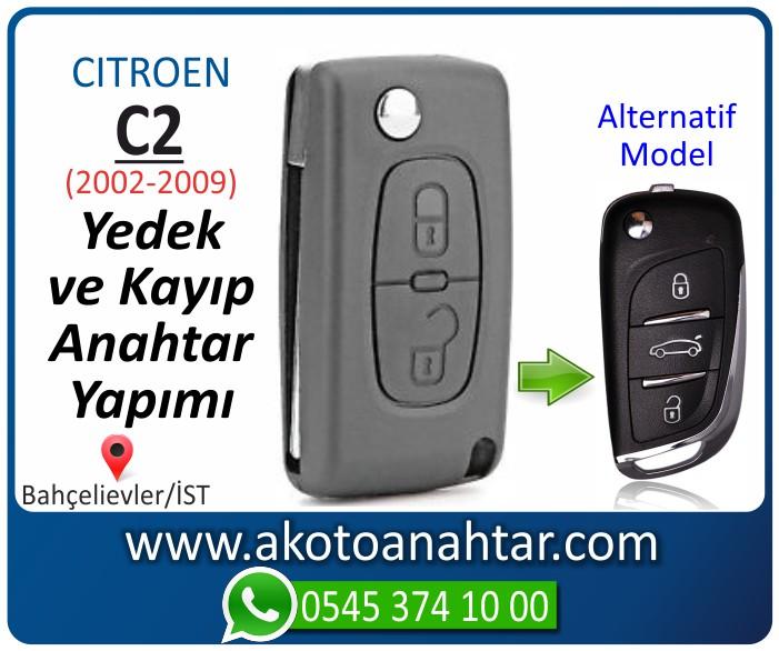 Citroen C2 c 2 anahtari anahtar key yedek yaptirma fiyati kopyalama cogaltma kayip 2002 2003 2004 2005 2006 2007 2008 2009 model - Citroen C2 Sustalı Anahtarı | Yedek ve Kayıp Anahtar Yapımı