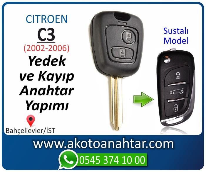 Citroen C3 c 3 anahtari anahtar key yedek yaptirma fiyati kopyalama cogaltma kayip 2002 2003 2004 2005 2006 model - Citroen C3 Anahtarı | Yedek ve Kayıp Anahtar Yapımı