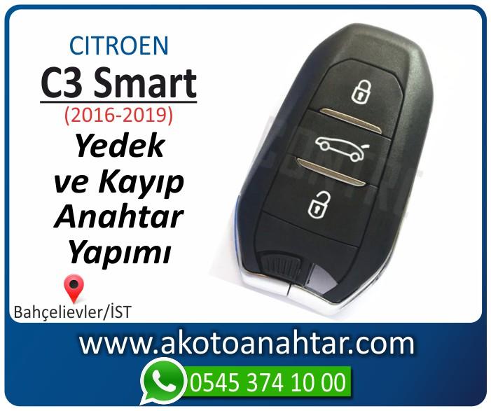 Citroen C3 c 3 smart anahtari anahtar key yedek yaptirma fiyati kopyalama cogaltma kayip 2016 2017 2018 2019 model - Citroen Smart Anahtarı   Yedek ve Kayıp Anahtar Yapımı