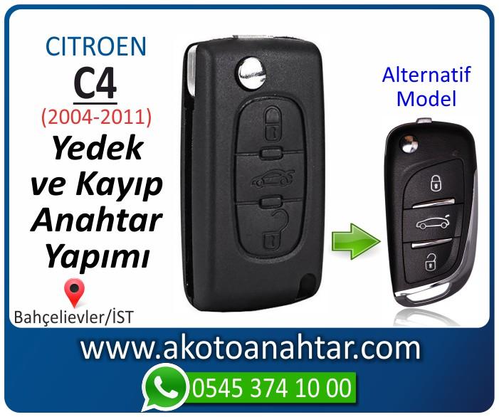Citroen C4 c 4 anahtari anahtar key yedek yaptirma fiyati kopyalama cogaltma kayip 2004 2005 2006 2007 2008 2009 2010 2011 model - Citroen C4 Anahtarı | Yedek ve Kayıp Anahtar Yapımı