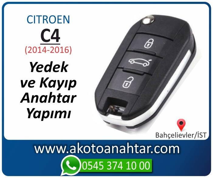 Citroen C4 c 4 anahtari anahtar key yedek yaptirma fiyati kopyalama cogaltma kayip 2014 2015 2016 model - C4 Anahtarı | Yedek ve Kayıp Anahtar Yapımı