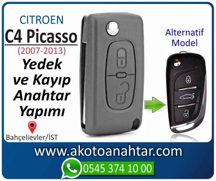 Citroen C4 c 4 picasso anahtari anahtar key yedek yaptirma fiyati kopyalama cogaltma kayip 2007 2008 2009 2010 2011 2012 2013 model - Citroen C4 Picasso Anahtarı | Yedek ve Kayıp Anahtar Yapımı
