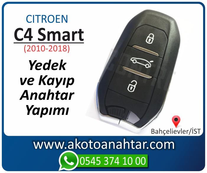Citroen C4 c 4 smart anahtari anahtar key yedek yaptirma fiyati kopyalama cogaltma kayip 2010 2011 2012 2013 2014 2015 2016 2017 2018 model - Citroen C4 Smart Anahtarı | Yedek ve Kayıp Anahtar Yapımı