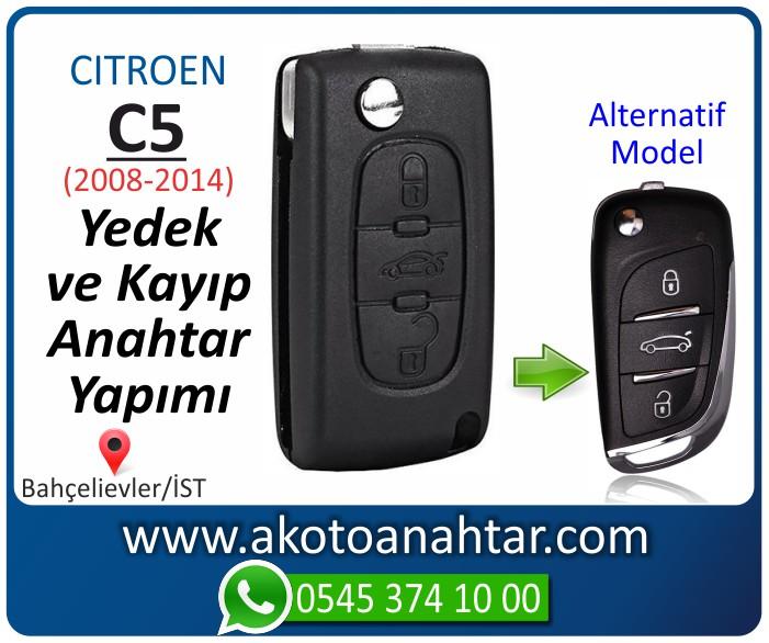 Citroen C5 c 5 anahtari anahtar key yedek yaptirma fiyati kopyalama cogaltma kayip 2008 2009 2010 2011 2012 2013 2014 model - Citroen C5 Anahtarı | Yedek ve Kayıp Anahtar Yapımı