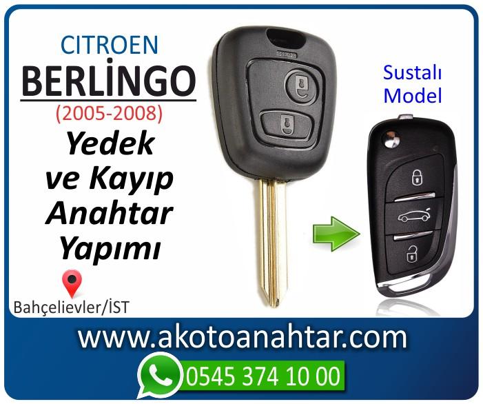 Citroen berlingo anahtari anahtar key yedek yaptirma fiyati kopyalama cogaltma kayip 2005 2006 2007 2008 model - Citroen Berlingo Anahtarı | Yedek ve Kayıp Anahtar Yapımı