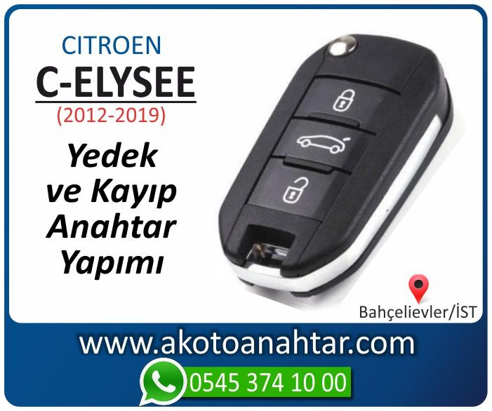 Citroen c eliysee anahtari anahtar key yedek yaptirma fiyati kopyalama cogaltma kayip 2012 2013 2014 2015 2016 2017 2018 model - Citroen C-eliysee Anahtarı | Yedek ve Kayıp Anahtar Yapımı
