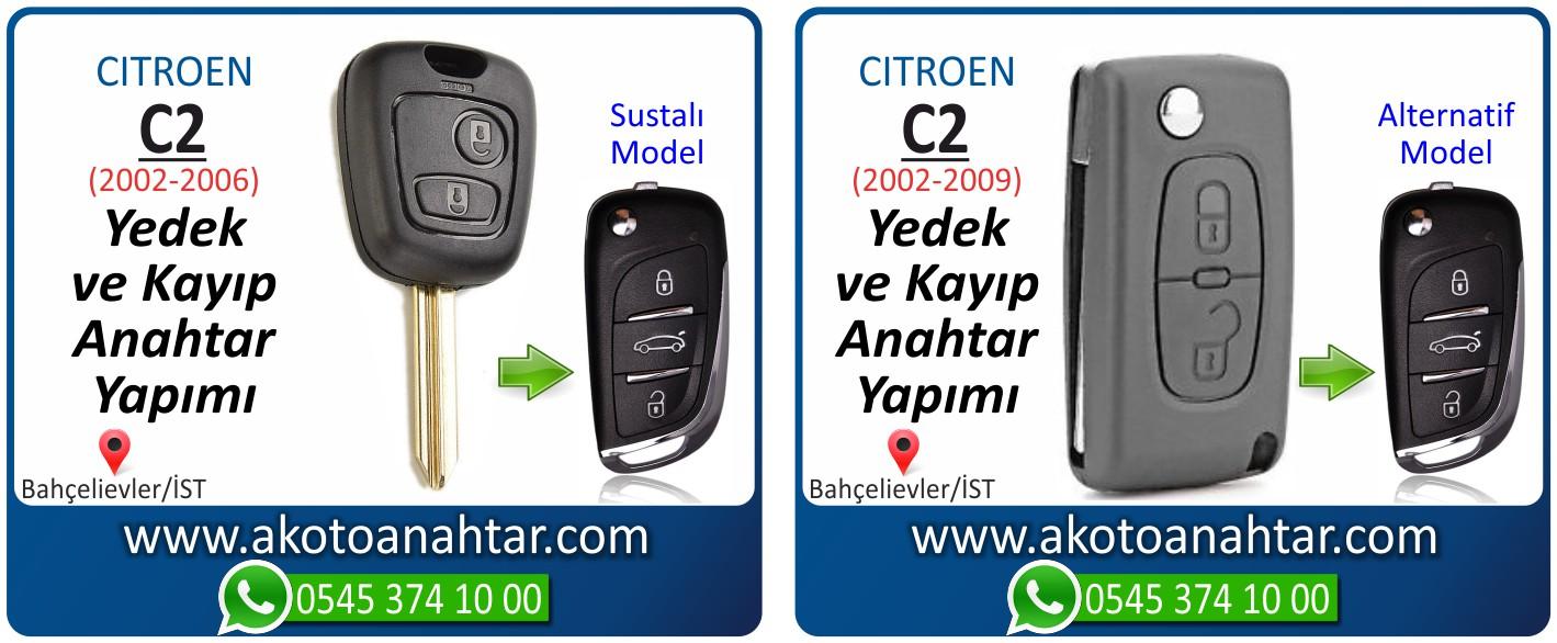 Citroen c2 c 2 anahtari - Citroen C2 Anahtarı | Yedek ve Kayıp Anahtar Yapımı