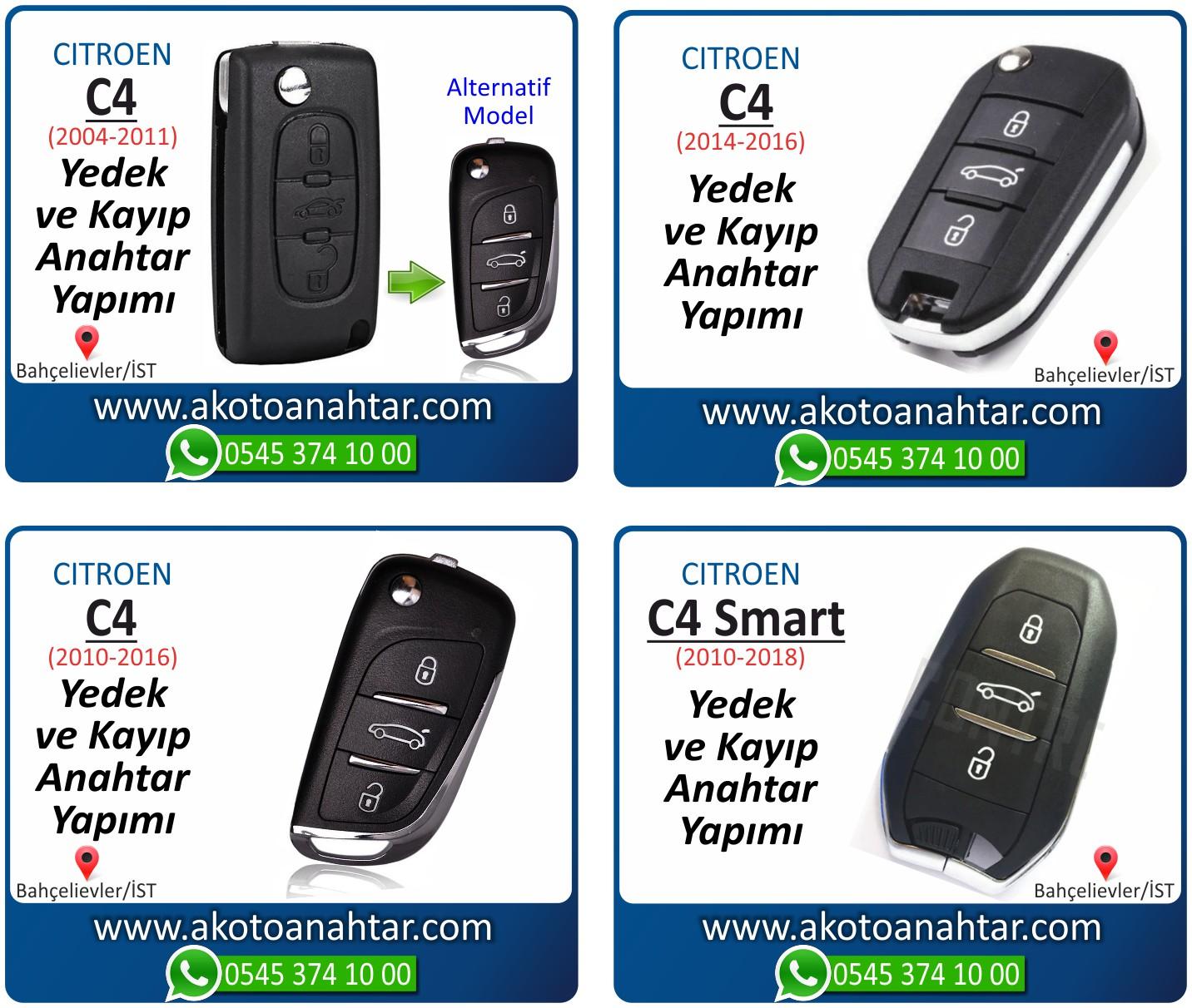 Citroen c4 c 4 anahtari - C4 Anahtarı | Yedek ve Kayıp Anahtar Yapımı