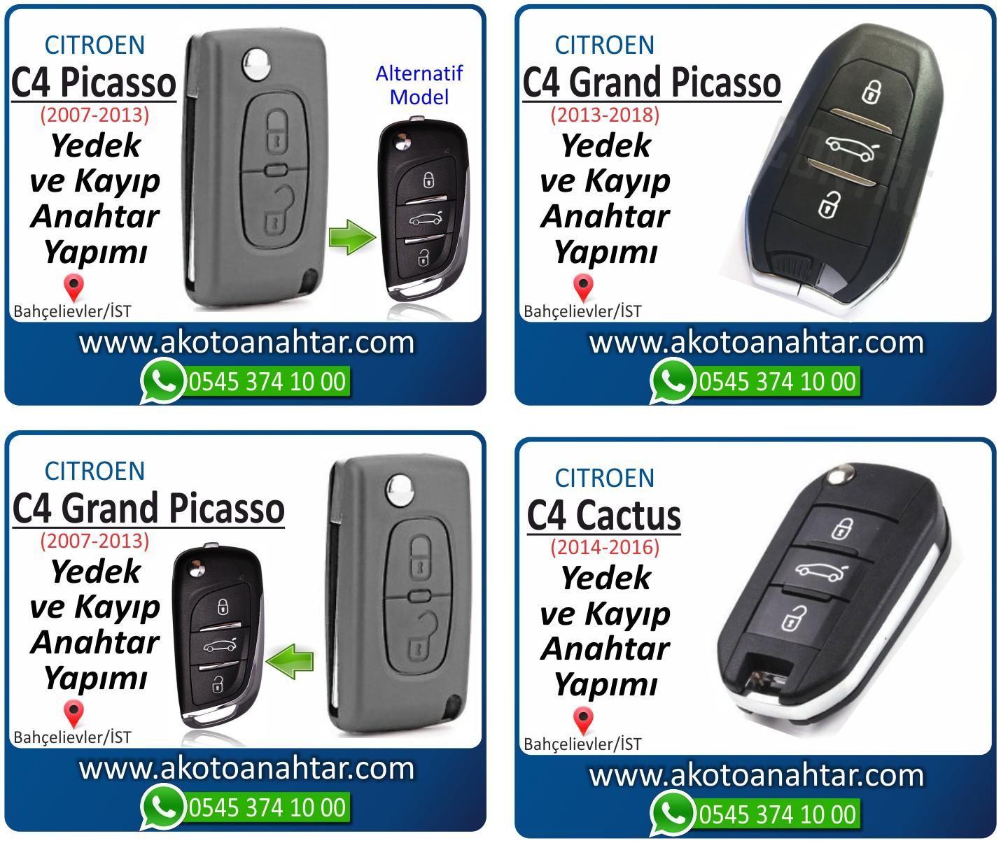 Citroen c4 c 4 grand picasso anahtari - Citroen C4 Grand Picasso Anahtarı | Yedek ve Kayıp Anahtar Yapımı