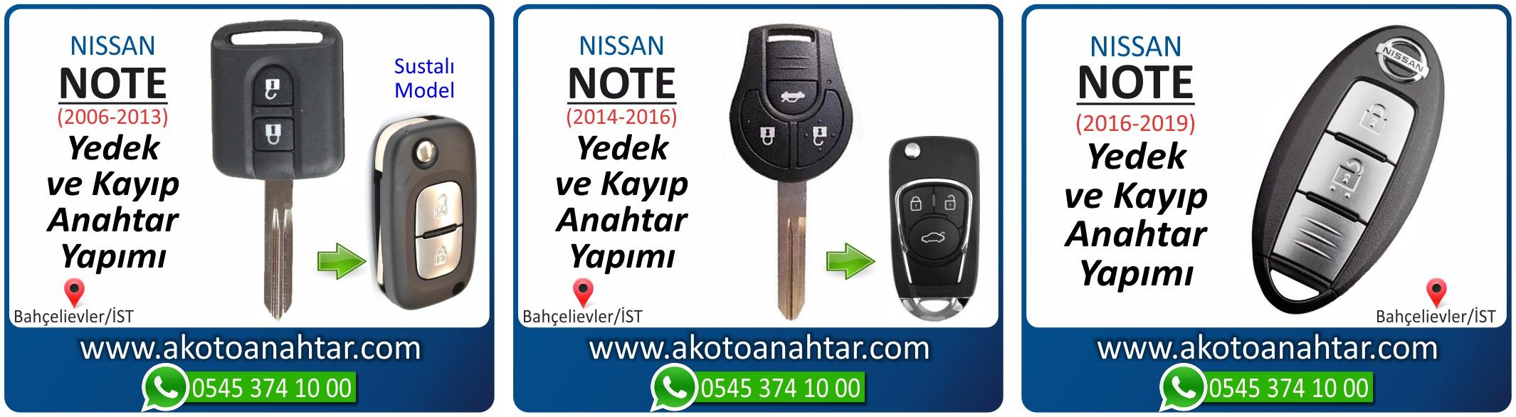 Nissan note anahtarı - Nissan Note Smart Anahtarı | Yedek ve Kayıp Anahtar Yapımı