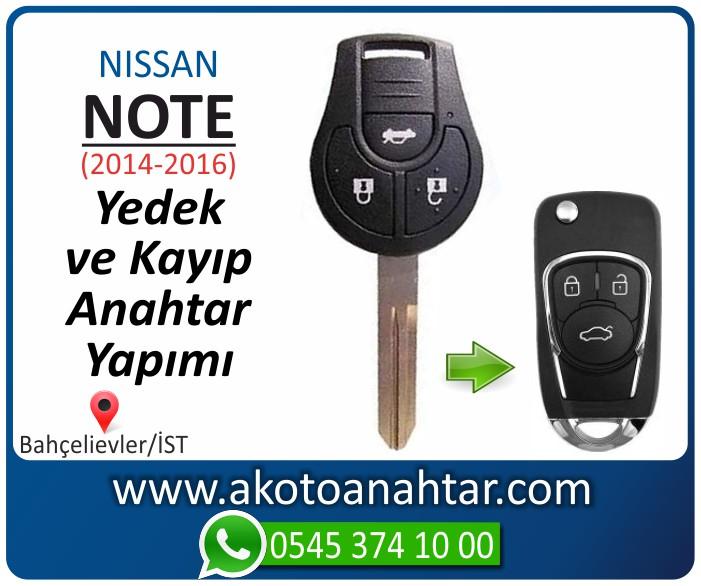 Nissan note anahtari anahtar key yedek yaptirma fiyati kopyalama cogaltma kayip 2014 2015 2016 model - Nissan Note Anahtarı | Yedek ve Kayıp Anahtar Yapımı