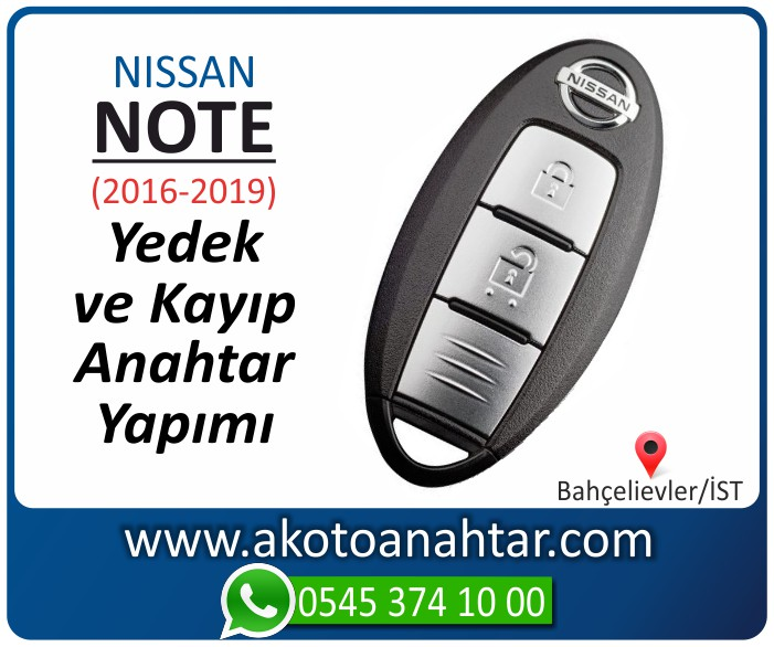 Nissan note smart anahtari anahtar key yedek yaptirma fiyati kopyalama cogaltma kayip 2016 2017 2018 2019 model - Nissan Note Smart Anahtarı | Yedek ve Kayıp Anahtar Yapımı