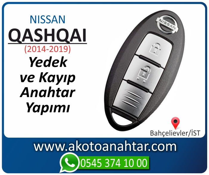 Nissan qashqai smart anahtari anahtar key yedek yaptirma fiyati kopyalama cogaltma kayip 2014 2015 2016 2017 2018 2019 model - Nissan Qashqai Smart Anahtarı | Yedek ve Kayıp Anahtar Yapımı
