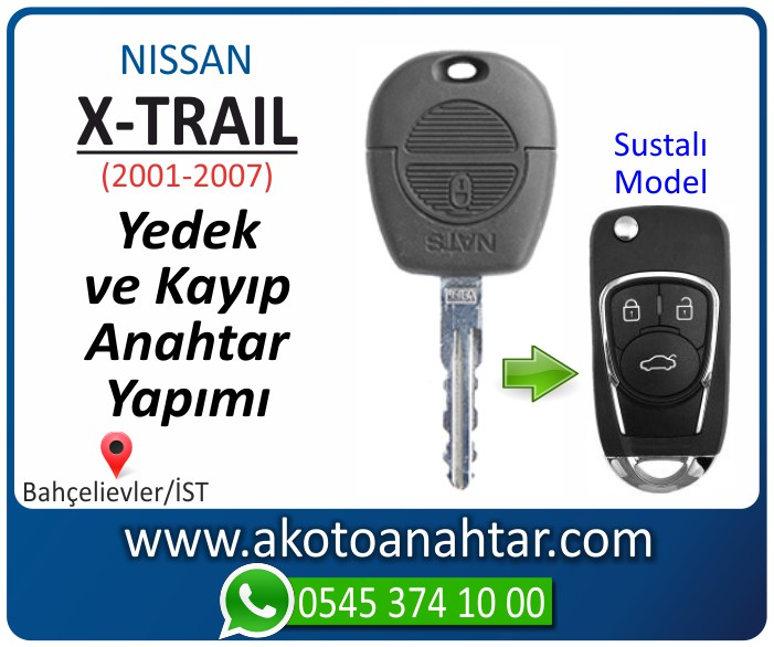 Nissan x trail anahtari anahtar key yedek yaptirma fiyati kopyalama cogaltma kayip 2001 2002 2003 2004 2005 2006 2007 model - Nissan X-trail Anahtarı | Yedek ve Kayıp Anahtar Yapımı