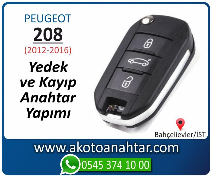 Peugeot 208 anahtari anahtar key yedek yaptirma fiyati kopyalama cogaltma kayip 2012 2013 2014 2015 2016 model - Peugeot 208 Anahtarı | Yedek ve Kayıp Anahtar Yapımı