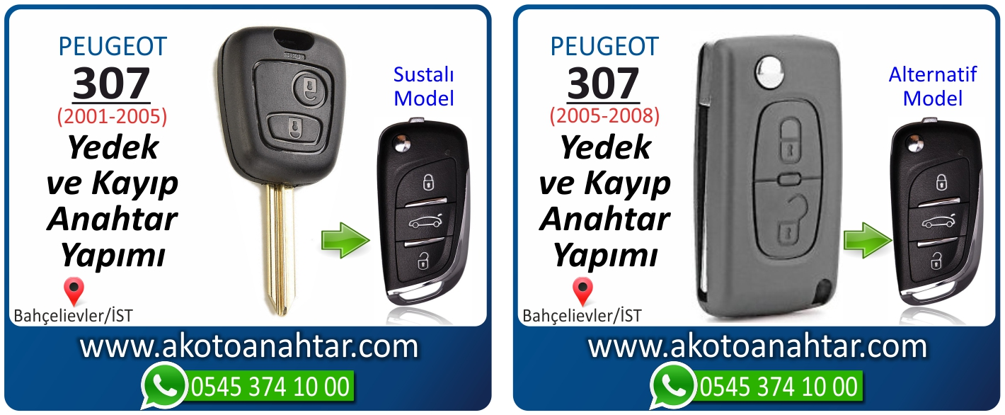 Peugeot 307 anahtari - Peugeot 307 Sustalı Anahtarı | Yedek ve Kayıp Anahtar Yapımı
