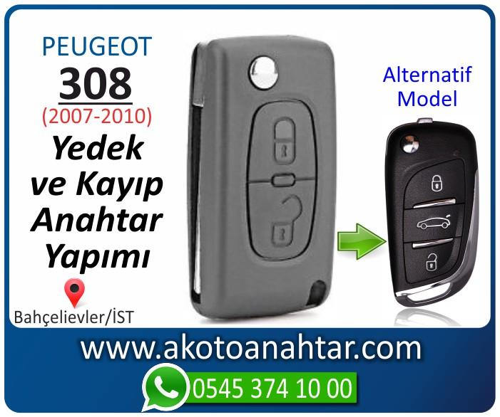 Peugeot 308 anahtari anahtar key yedek yaptirma fiyati kopyalama cogaltma kayip 2007 2008 2009 2010 model - Peugeot 308 Anahtarı | Yedek ve Kayıp Anahtar Yapımı