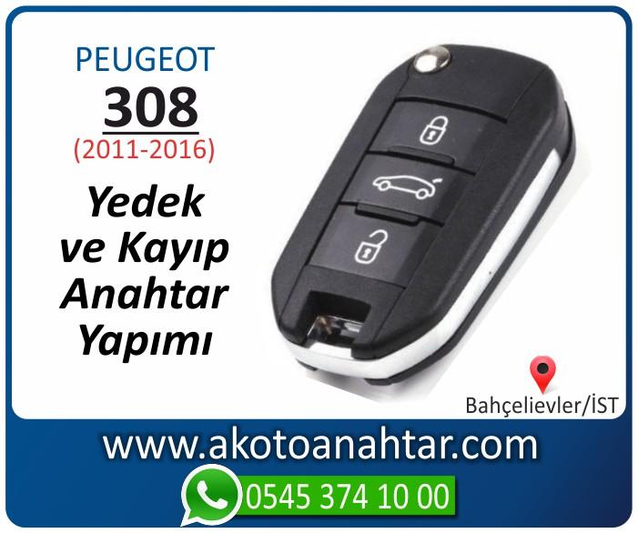 Peugeot 308 anahtari anahtar key yedek yaptirma fiyati kopyalama cogaltma kayip 2011 2012 2013 2014 2015 2016 model - Peugeot 308 Anahtar | Yedek ve Kayıp Anahtarı Yapımı