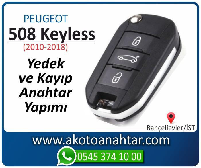 Peugeot 508 smart anahtari anahtar key yedek yaptirma fiyati kopyalama cogaltma kayip 2010 2011 2012 2013 2014 2015 2016 2017 2018 model - Peugeot 508 Smart Anahtarı | Yedek ve Kayıp Anahtar Yapımı