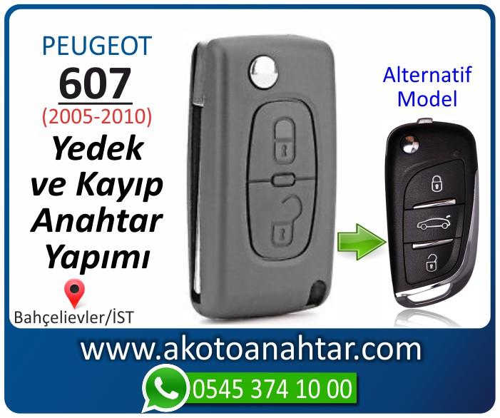 Peugeot 607 anahtari anahtar key yedek yaptirma fiyati kopyalama cogaltma kayip 2005 2006 2007 2008 2009 2010 model - Peugeot 607 Anahtarı | Yedek ve Kayıp Anahtar Yapımı