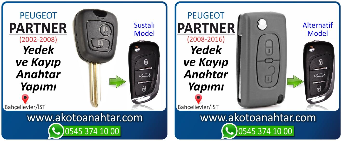 Peugeot partner anahtari - Peugeot Partner Sustalı Anahtarı | Yedek ve Kayıp Anahtar Yapımı
