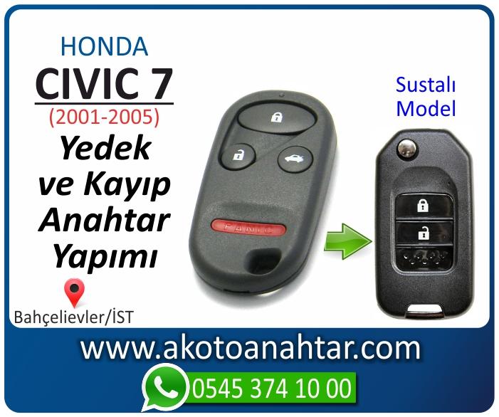 honda civic 7 anahtari anahtar key yedek yaptirma fiyati kopyalama cogaltma kayip 2001 2002 2003 2004 2005 model - Honda Civic Anahtarı | Yedek ve Kayıp Anahtar Yapımı