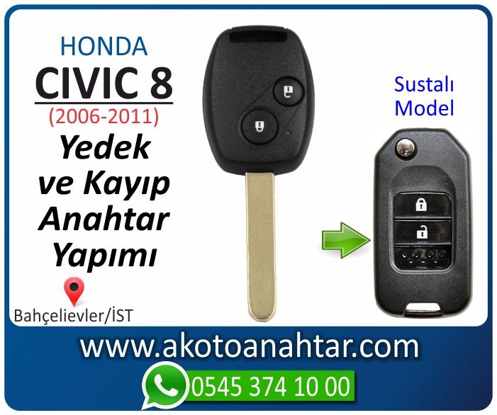 honda civic 8 anahtari anahtar key yedek yaptirma fiyati kopyalama cogaltma kayip 2006 2007 2008 2009 2010 2011 model - Honda Civic 8 Anahtarı | Yedek ve Kayıp Anahtar Yapımı