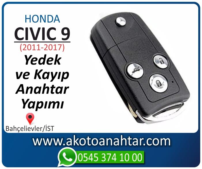 honda civic 9 anahtari anahtar key yedek yaptirma fiyati kopyalama cogaltma kayip 2011 2012 2013 2014 2015 2016 2017 model - Honda Civic 9 Anahtarı | Yedek ve Kayıp Anahtar Yapımı