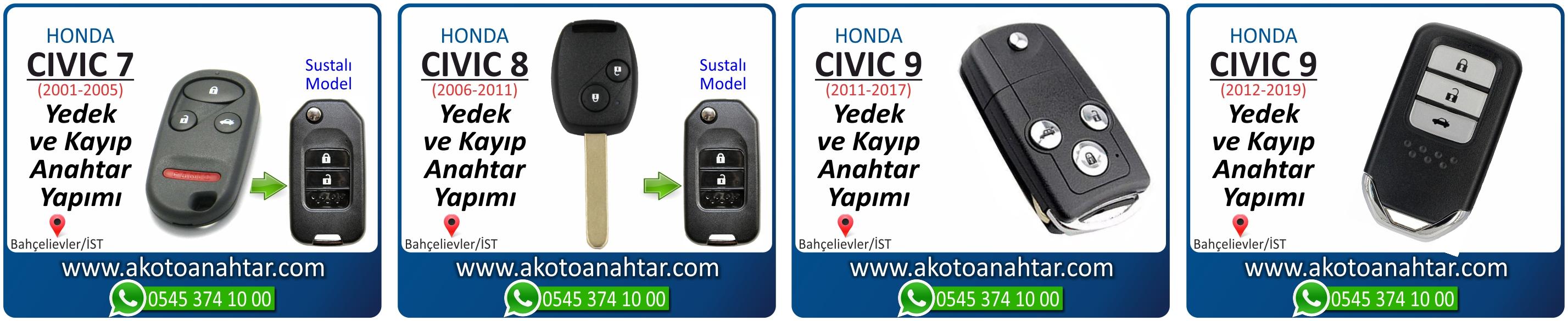 honda civic anahtari - Honda Civic Smart Anahtarı | Yedek ve Kayıp Anahtar Yapımı