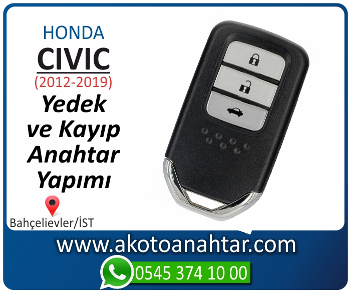 honda civic smart anahtari anahtar key yedek yaptirma fiyati kopyalama cogaltma kayip 2012 2013 2014 2015 2016 2017 2018 2019 model - Honda Civic Smart Anahtarı   Yedek ve Kayıp Anahtar Yapımı