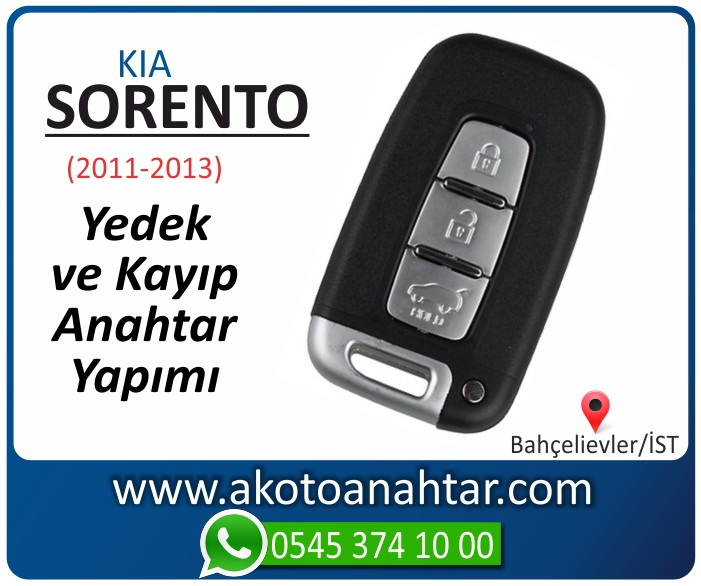 kia sorento smart anahtari anahtar key yedek yaptirma fiyati kopyalama cogaltma kayip 2011 2012 2013 model - Sorento Anahtarı | Yedek ve Kayıp Anahtar Yapımı