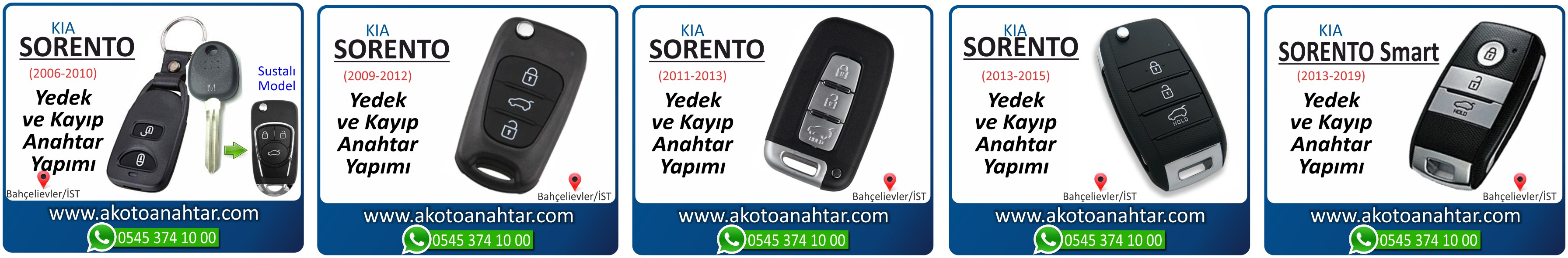 kia sorrento anahtari - Kia Sorento Sustalı Anahtarı | Yedek ve Kayıp Anahtar Yapımı