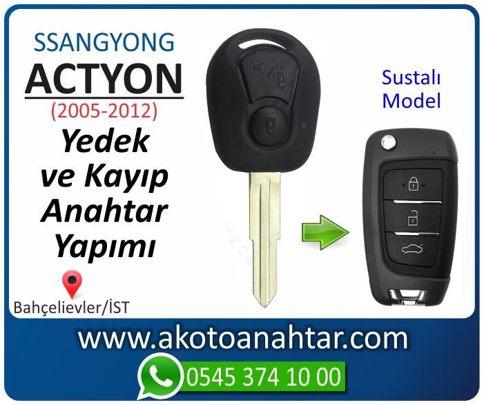 ssangyong actyon anahtari anahtar key yedek yaptirma fiyati kopyalama cogaltma kayip 2005 2006 2007 2008 2009 2010 2011 2012 model - Ssangyong Actyon Anahtarı | Yedek ve Kayıp Anahtar Yapımı