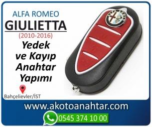 Alfa Romeo Giulietta Araba Oto Otomobil Car Sustalı Yedek Kayıp Kumanda Kumandalı İmmobilizer Anahtar Anahtarı Çilingir Anahtarcı Acil Kopyalama Kodlama Locksmith Key Bahçelievler İstanbul Kayboldu Dönmüyor Okumuyor Orjinal Kontak Tamir Tamiri Çip