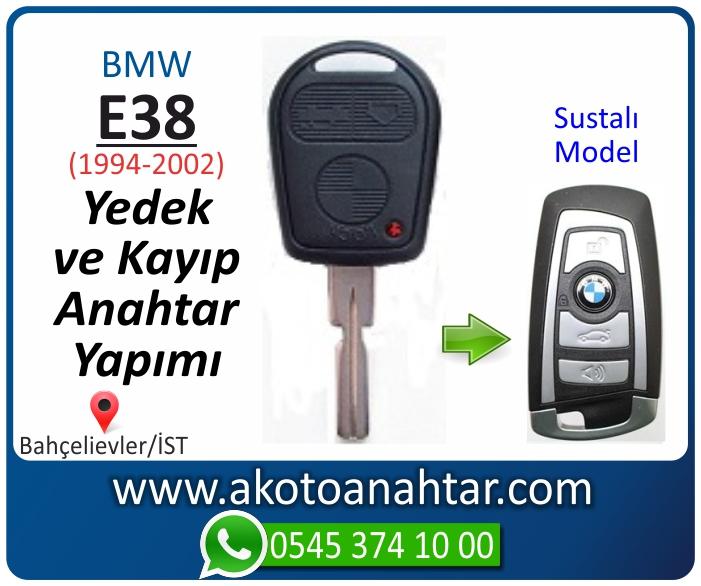 bmw 7 serisi e38 anahtari anahtar key yedek yaptirma fiyati kopyalama cogaltma kayip 1998 1999 2000 2001 2002 model - Bmw E38 Anahtarı | Yedek ve Kayıp Anahtar Yapımı