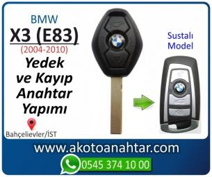 Bmw X3 (E83) Araba Oto Otomobil Car Sustalı Yedek Kayıp Kumanda Kumandalı İmmobilizer Anahtar Anahtarı Çilingir Anahtarcı Acil Kopyalama Kodlama Locksmith Key Bahçelievler İstanbul Kayboldu Dönmüyor Okumuyor Orjinal Kontak Tamir Tamiri Çip
