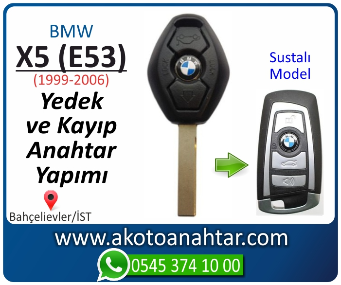 bmw x5 e53 anahtari anahtar key yedek yaptirma fiyati kopyalama cogaltma kayip 1999 2000 2001 2002 2003 2004 2005 2006 model - Bmw X5 (E53) Anahtarı | Yedek ve Kayıp Anahtar Yapımı
