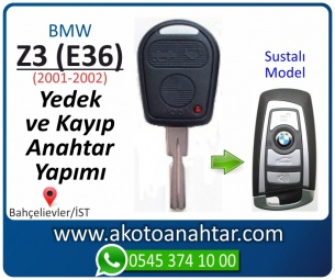 Bmw Z3 (E36) Araba Oto Otomobil Car Sustalı Yedek Kayıp Kumanda Kumandalı İmmobilizer Anahtar Anahtarı Çilingir Anahtarcı Acil Kopyalama Kodlama Locksmith Key Bahçelievler İstanbul Kayboldu Dönmüyor Okumuyor Orjinal Kontak Tamir Tamiri Çip