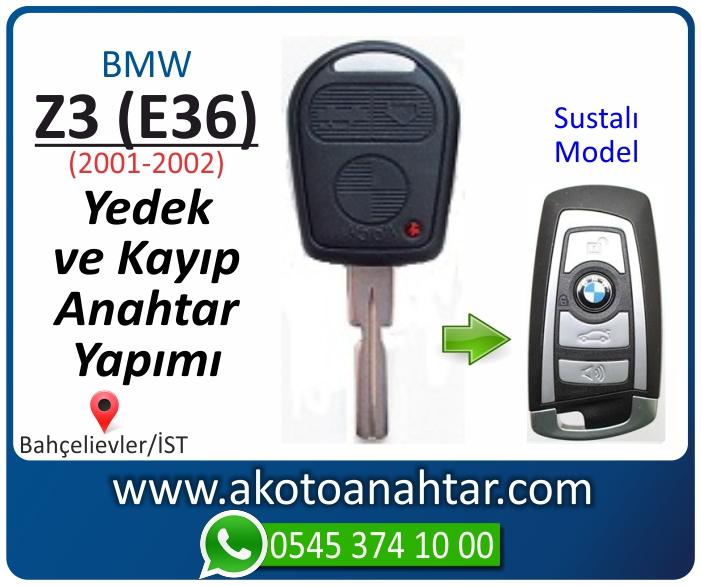 bmw z3 e36 anahtari anahtar key yedek yaptirma fiyati kopyalama cogaltma kayip 2001 2002 model - Bmw Z3 (E36) Anahtarı | Yedek ve Kayıp Anahtar Yapımı