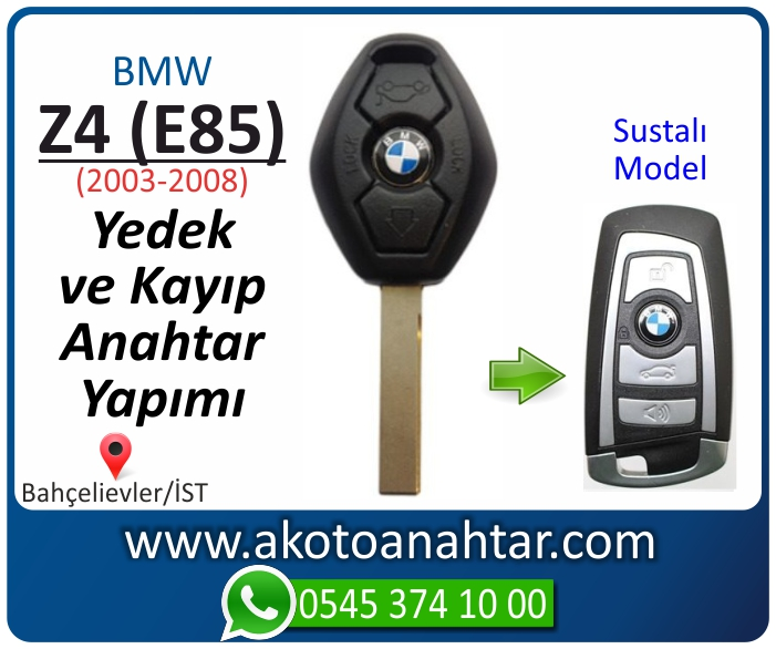 bmw z4 e85 anahtari anahtar key yedek yaptirma fiyati kopyalama cogaltma kayip 2003 2004 2005 2006 2007 2008 model - Bmw Z4 (E85) Anahtarı | Yedek ve Kayıp Anahtar Yapımı