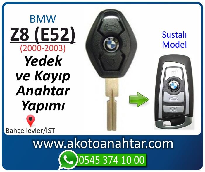 bmw z8 e52 anahtari anahtar key yedek yaptirma fiyati kopyalama cogaltma kayip 2000 2001 2002 2003 model - Bmw Z8 (E52) Anahtarı | Yedek ve Kayıp Anahtar Yapımı