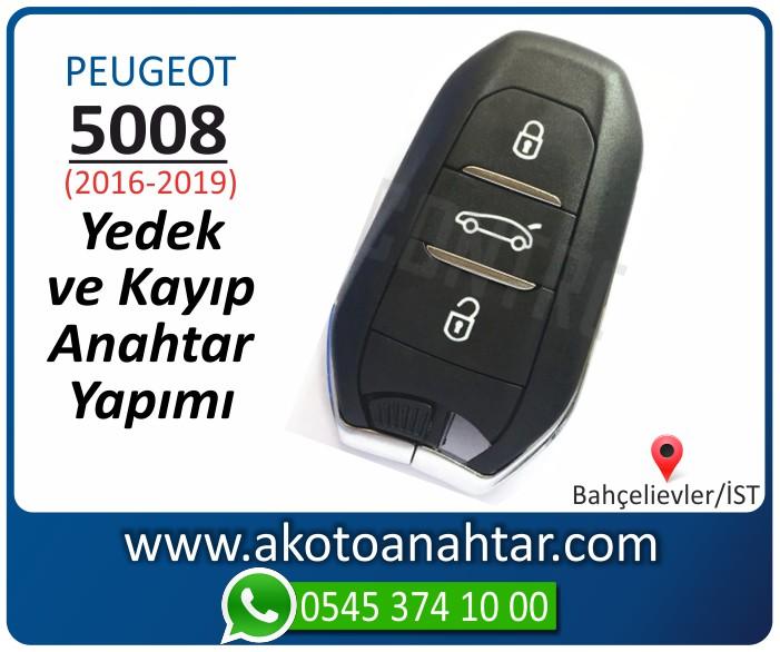 Peugeot 5008 smart anahtari anahtar key yedek yaptirma fiyati kopyalama cogaltma kayip 2016 2017 2018 2019 model - Peugeot Yeni 5008 Anahtarı | Yedek ve Kayıp Anahtar Yapımı