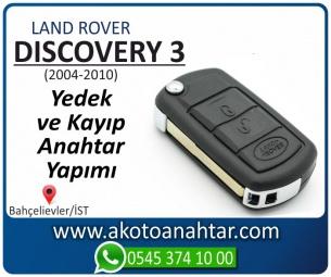 Land Rover Discovery 3 Araba Oto Otomobil Car Sustalı Yedek Kayıp Kumanda Kumandalı İmmobilizer Anahtar Anahtarı Çilingir Anahtarcı Acil Kopyalama Kodlama Locksmith Key Bahçelievler İstanbul Kayboldu Dönmüyor Okumuyor Orjinal Kontak Tamir Tamiri Çip