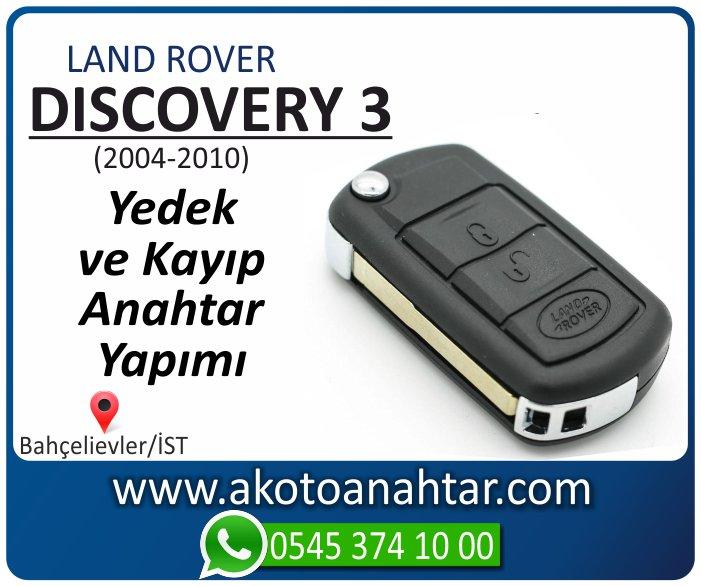 land rover discovery 3 anahtari anahtar key yedek yaptirma fiyati kopyalama cogaltma kayip 2004 2005 2006 2007 2008 2009 2010 model - Land Rover Discovery 3 Anahtarı | Yedek ve Kayıp Anahtar Yapımı