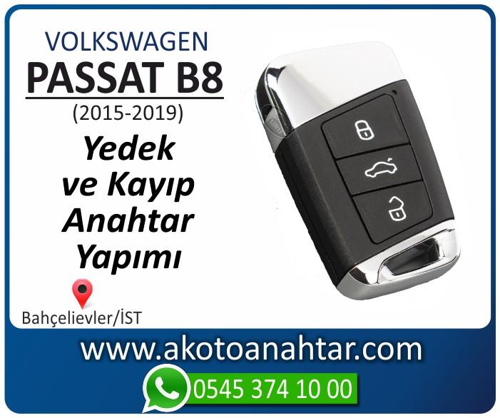 volkswagen vw passat b8 anahtari anahtar key yedek yaptirma fiyati kopyalama cogaltma kayip 2015 2016 2017 2018 2019 model - Volkswagen Passat B8 Anahtarı | Yedek ve Kayıp Anahtar Yapımı